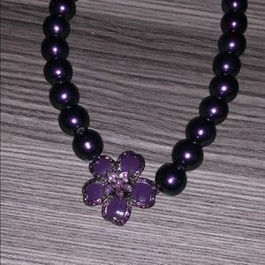 Cute purple flower necklace